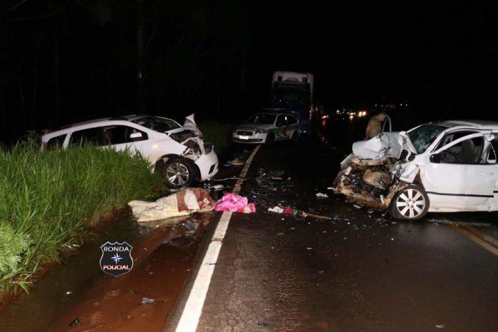 Uma pessoa morre e duas ficam feridas em grave acidente no Oeste