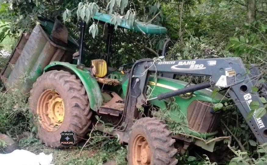 Idoso morre em grave acidente envolvendo trator agrícola