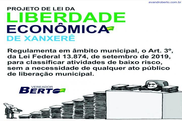 Vereador protocola primeiro projeto de Lei da atual legislatura e prevê Liberdade Econômica para diversos ramos de atividade