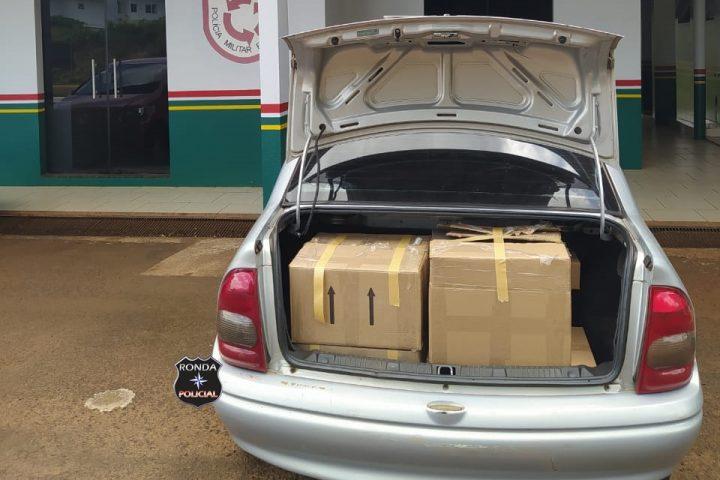 PMRv realiza apreensão de veículo com contrabando de mercadoria